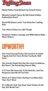 Screen cap of headline styles